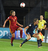 20170723 - BREDA , NETHERLANDS : English Jill SCott (R) and Spanish Alexia Putellas (L) pictured during the female soccer game between England and Spain  , the second game in group D at the Women's Euro 2017 , European Championship in The Netherlands 2017 , Sunday 23 th June 2017 at Stadion Rat Verlegh in Breda , The Netherlands PHOTO SPORTPIX.BE | DIRK VUYLSTEKE