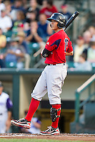 Pawtucket Red Sox second baseman Jonathan Hee #12 during an International League game against the Rochester Red Wings at Frontier Field on August 11, 2012 in Rochester, New York.  Rochester defeated Pawtucket 5-3.  (Mike Janes/Four Seam Images)