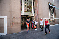 The Tiffany & Co. flagship store on Fifth Avenue in Midtown Manhattan on Thursday, August 28, 2014. Tiffany & Company, the high-end jeweler, announced that second-quarter profits experienced a better than expected rise with the strongest sales growth in the Americas region. (© Richard B. Levine)