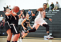 #5 Ashton Reid '15. The Occidental College women's basketball team plays against Chapman University in Rush Gym on Jan. 7, 2015. (Photo by Marc Campos, Occidental College Photographer)