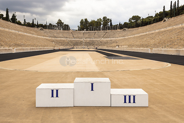 Panathenaic Stadium, original modern day Olympic Stadium, Athens, Greece <br /> CAP/MEL<br /> &copy;MEL/Capital Pictures /MediaPunch ***NORTH AND SOUTH AMERICA ONLY***