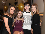 Sophie Barry, Danielle Smith, Michael Collins and Amy Reynolds at Jenny Fagan's 40th birthday in The Thatch. Photo:Colin Bell/pressphotos.ie