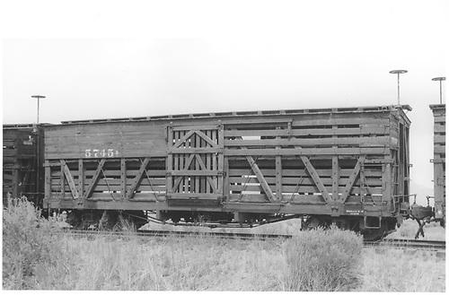 Stock car #5745 at Alamosa.<br /> D&amp;RGW  Alamosa, CO  Taken by Maxwell, John W. - 7/3/1959