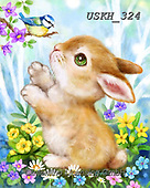 Kayomi, EASTER, OSTERN, PASCUA, paintings+++++,USKH324,#e#, EVERYDAY ,rabbits