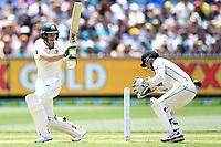 27th December 2019; Melbourne Cricket Ground, Melbourne, Victoria, Australia; International Test Cricket, Australia versus New Zealand, Test 2, Day 2; Tim Paine of Australia hits the ball - Editorial Use