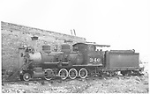 Fireman's-side view of C-19 #340.<br /> D&amp;RGW  Gunnison, CO  6/1940