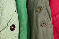 Buttons on Apparel Detail & Trim