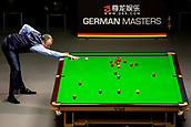 30th January 2019, Berlin, Germany;  Mark Williams, snooker world champion and defending champion from Wales plays Zhou Yuelong from China at the German Masters 2019.
