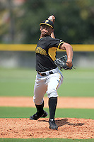 Pittsburgh Pirates pitcher Delvin Hiciano (50) during an Instructional League game against the Tampa Bay Rays on September 27, 2014 at the Charlotte Sports Park in Port Charlotte, Florida.  (Mike Janes/Four Seam Images)
