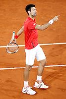 Novak Djokovic, Serbia, during Madrid Open Tennis 2016 Semifinal match.May, 7, 2016.(ALTERPHOTOS/Acero)a /NortePhoto.com