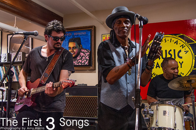 Mike Zito and Cyril Neville of the Royal Southern Brotherhood performs at Louisiana Music Factory in New Orleans, LA.