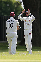 Barking celebrate their sixth wicket during Barking CC (fielding) vs Redbridge CC, Essex County League Cricket at Mayesbrook Park on 25th May 2019