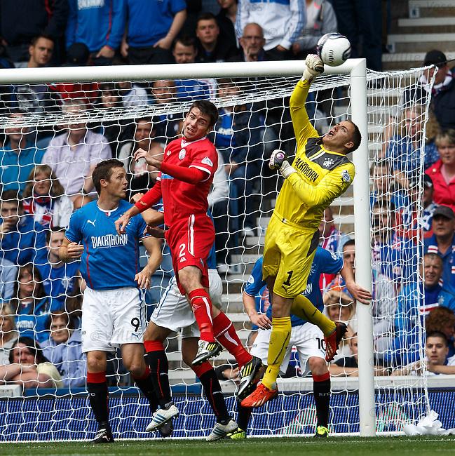 Scott Gallacher saves for Rangers
