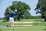 MUSCLE SHOALS, AL - MAY 25: West Florida's Christian Bosso watches his tee shot on No. 9 during the Division II Men's Team Match Play Golf Championship held at the Robert Trent Jones Golf Trail at the Shoals, Fighting Joe Course on May 25, 2018 in Muscle Shoals, Alabama. Lynn defeated West Florida 3-2 to win the national title. (Photo by Cliff Williams/NCAA Photos via Getty Images)