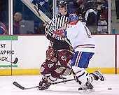 Stephen Gionta, Jeremy Hall - The Boston College Eagles defeated the University of Massachusetts-Lowell River Hawks 4-3 in overtime on Saturday, January 28, 2006, at the Paul E. Tsongas Arena in Lowell, Massachusetts.