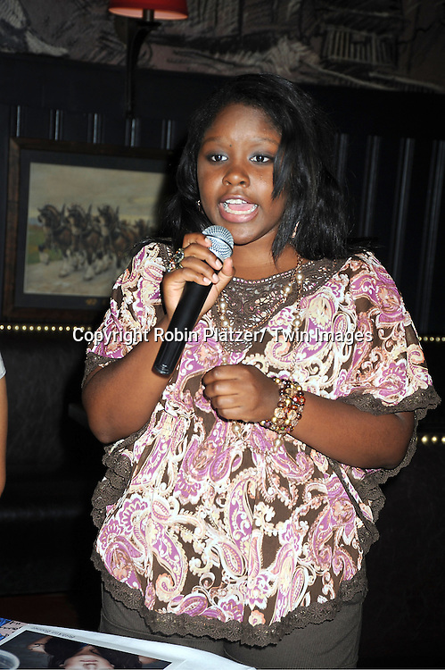 actress Shenell Edmonds attending the Shenell Edmonds Fan Club Dance Party on ..August 14, 2011 at HB Burger's Sunken Bar in New York City. Shenell plays Destiny Evans on One Life to Live.