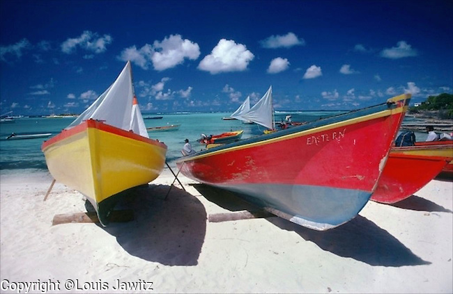 Antigua beach 2 fishing boats film  $175.00