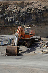 Obsolete construction diggers or pickers,Tenerife, canary islands