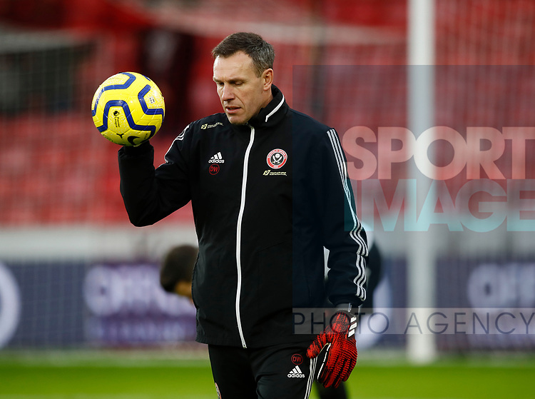 Coach Darren Ward during the Premier League match at Bramall Lane, Sheffield. Picture date: 9th February 2020. Picture credit should read: Simon Bellis/Sportimage