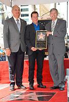 Jeff Dunham, Jeff Zarrinnam, Leron Gubler at the Hollywood Walk of Fame Star Ceremony honoring ventriloquist Jeff Dunham, Los Angeles, USA 21 Sept. 2017<br /> Picture: Paul Smith/Featureflash/SilverHub 0208 004 5359 sales@silverhubmedia.com