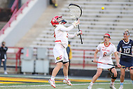 College Park, MD - February 25, 2017: Maryland Terrapins Megan Taylor (34) makes a save during game between North Carolina and Maryland at  Capital One Field at Maryland Stadium in College Park, MD.  (Photo by Elliott Brown/Media Images International)