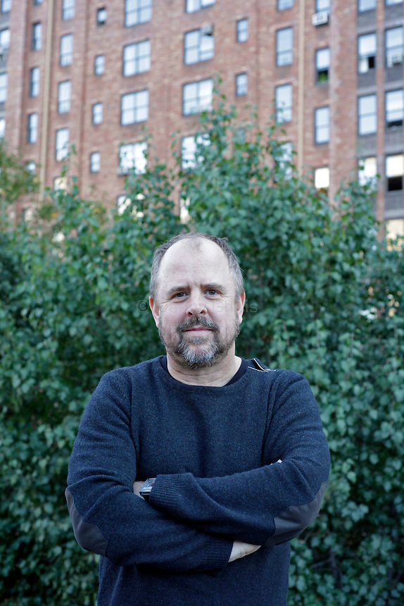 Documentary filmmaker Gary Hustwit, whose film Urbanized opens at the IFC center on Oct 28, poses for a portrait on the roof of his apartment building in Chelsea....Danny Ghitis for The New York Times