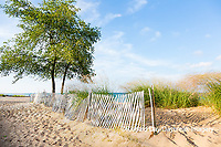 64795-01317 Fence along beach of Lake Huron, Port Huron, MI