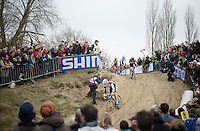 Sven Nys (BEL/Crelan-AAdrinks) was not his usual self today (sick apparently) and only managed a meager 15th place at the finish<br /> <br /> Koksijde CX World Cup 2014