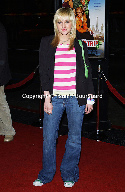 Ashlee Simpson arriving at the Eurotrip Premiere at the Chinese Theatre in Los Angeles. February 17, 2004.