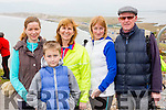 Noran and Aaron griffin, Angela Teahan, Katie O'neill and sean O'Sullivan  at the new walkway opening in Rossbeigh on Saturday