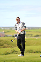 Jason O'Leary (Dromoland Castle) on the 14th tee during Round 2 of The South of Ireland in Lahinch Golf Club on Sunday 27th July 2014.<br /> Picture:  Thos Caffrey / www.golffile.ie
