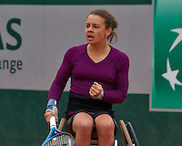 Paris, France, 01 June, 2016, Tennis, Roland Garros, Womans Wheelchair tennis, Marjolein Buis (NED)<br /> Photo: Henk Koster/tennisimages.com