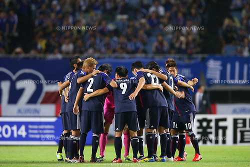 Japan team group (JPN), AUGUST 14, 2013 - Football / Soccer : <br /> KIRIN Challenge Cup 2013 match <br /> between Japan 2-4 Uruguay <br /> at Miyagi Stadium, Miyagi, Japan.<br />  (Photo by AFLO SPORT)