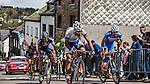 Breakaway with Pirimin Lang (IAM Cycling), Michel Koch (Cannondale), Jaco Venter (MTN-Qhubeka), Matteo Bono (Lampre-Merida), Pieter Jakobs (Topsport Vlaanderen) and Marco Minnaard (Wanty Groupe Gobert) at Cote de Saint-Roch, Houffalize, Belgium, 27 April 2014, Photo by Pim Nijland / www.pelotonphotos.com