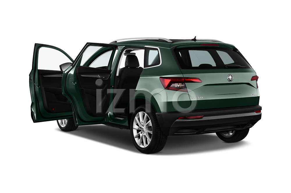 Car images close up view of a 2018 Skoda Karoq Style 5 Door SUV doors