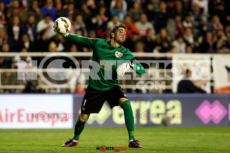 Cobeno of Rayo Vallecano during La Liga match between Rayo Vallecano and Real Madrid at Vallecas Stadium in Madrid, Spain. April 08, 2015. (ALTERPHOTOS/Caro Marin) /NORTEphoto.com