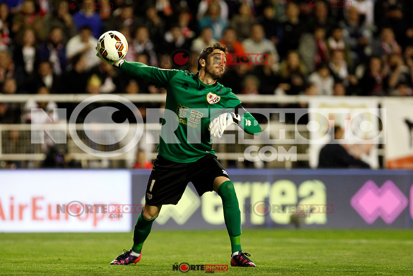 Cobeno of Rayo Vallecano during La Liga match between Rayo Vallecano and Real Madrid at Vallecas Stadium in Madrid, Spain. April 08, 2015. (ALTERPHOTOS/Caro Marin) /NORTEphoto.com