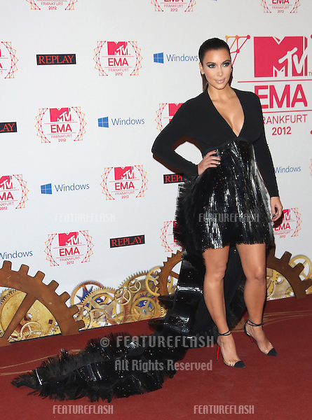 Kim Kardashian at The MTV EMA's 2012 held at Festhalle - press room, Frankfurt, Germany. 11/11/2012 Picture by: Henry Harris / Featureflash
