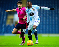 Blackburn Rovers' Amari'i Bell holds off the challenge from Queens Park Rangers' Pawel Wszolek<br /> <br /> Photographer Alex Dodd/CameraSport<br /> <br /> The EFL Sky Bet Championship - Blackburn Rovers v Queens Park Rangers - Saturday 3rd November 2018 - Ewood Park - Blackburn<br /> <br /> World Copyright © 2018 CameraSport. All rights reserved. 43 Linden Ave. Countesthorpe. Leicester. England. LE8 5PG - Tel: +44 (0) 116 277 4147 - admin@camerasport.com - www.camerasport.com