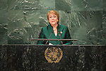 Address by Her Excellency Michelle Bachelet Jeria, President of the Republic of Chile<br /> <br /> <br /> General Assembly Seventy-first session 10th plenary meeting<br /> General Debate