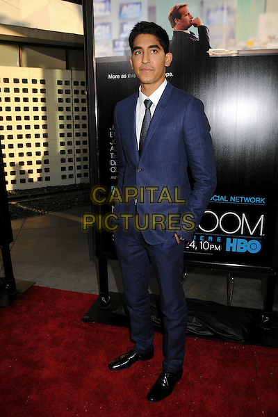 "Dev Patel.HBO's ""The Newsroom"" Los Angeles Premiere held at The Cinerama Dome, Hollywood, California, USA..June 20th, 2012.full length hands in pockets black tie white shirt blue suit .CAP/ADM/BP.©Byron Purvis/AdMedia/Capital Pictures."
