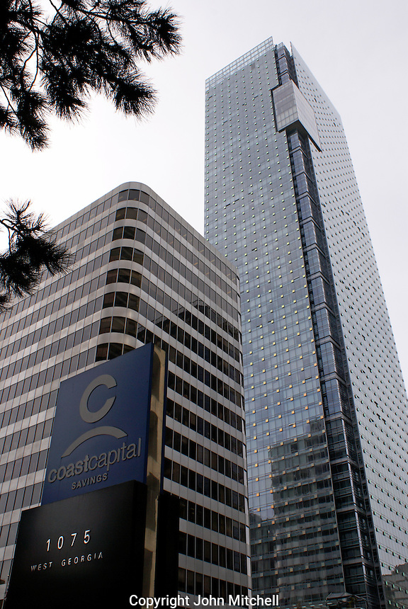 The new Shangri-La Hotel, tallest building in Vancouver, British Columbia, Canada