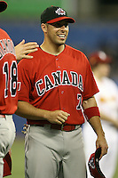 March 7, 2009:  Outfielder Adam Stern (7) of Canada during the first round of the World Baseball Classic at the Rogers Centre in Toronto, Ontario, Canada.  Team USA defeated Canada 6-5 in both teams opening game of the tournament.  Photo by:  Mike Janes/Four Seam Images
