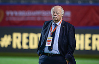 20181005 - LEUVEN , BELGIUM : Belgian David Delferiere, new chairman women soccer for the Belgian Football Association pictured prior to the female soccer game between the Belgian Red Flames and Switzerland , the first leg in the semi finals play offs for qualification for the World Championship in France 2019, Friday 5 th october 2018 at OHL Stadion Den Dreef in Leuven , Belgium. PHOTO SPORTPIX.BE | DAVID CATRY