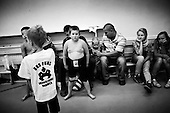 Warsaw 14.09.2010 Poland<br /> Sumo school for youngsters in Warsaw.<br /> Poles do not know much about sumo. Japan's national sport remains a mystery, except for the image of the very big and fat sumo wrestlers. However Polish sumo wrestlers have been, for many years, classified among world's leading sportsmen in this field. Since 1995 more and more followers join the sumo sections, fascinated with the art of fighting on the clay dohyo.<br /> Photo: Adam Lach / Napo Images<br /> <br /> Szkolka dla mlodzikow sumo w Warszawie.<br /> Polacy niewiele wiedza o sumo. Narodowy sport Japonii to wciaz tajemnica. Kojarzy sie jedynie z wielkimi i grubymi mezczyznami. Jednak zawodnicy z Polski od lat naleza do swiatowej czolowki w tej dyscyplinie. Od 1995 roku w sekcjach sumo przybywa zawodnik&oacute;w zafascynowanych zmaganiami na glinianym dohyo.<br /> Fot: Adam Lach / Napo Images