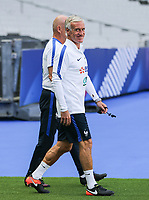 French Head Coach Didier Deschamps heads out to the training during the France National Team Training session ahead of the match with England tomorrow evening at Stade de France, Paris, France on 12 June 2017. Photo by David Horn / PRiME Media Images.