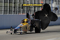 Nov 13, 2010; Pomona, CA, USA; NHRA top alcohol dragster driver Bill Reichert during qualifying for the Auto Club Finals at Auto Club Raceway at Pomona. Mandatory Credit: Mark J. Rebilas-