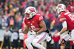 Wisconsin Badgers running back Rachi Ibrahim (9) carries the ball during an NCAA College Big Ten Conference football game against the Michigan Wolverines Saturday, November 18, 2017, in Madison, Wis. The Badgers won 24-10. (Photo by David Stluka)