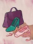Illustration of high heel and ballet shoe representing alternative career