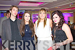 Pictured at the Cube bar, Killarney on New Year's Eve were l-r: Gelemer Dimmer (Netherlands) Eilish O'Herlihy (Cork) Maria Buckley (Glenflesk) Andrea O'Riordan (Macroom)